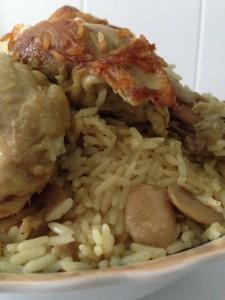 riz poulet chmpignon