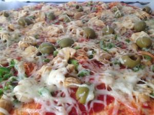 pizza champignon poivron:l'assurance du goût!