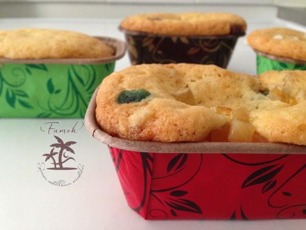 9 mini cakes avec la même pâte.