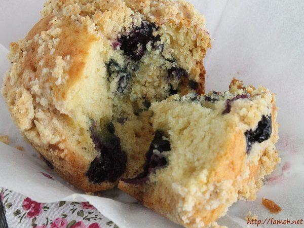 Muffin crumble myrtilles