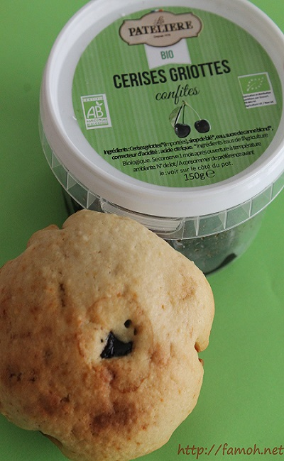 Muffin cerise griotte