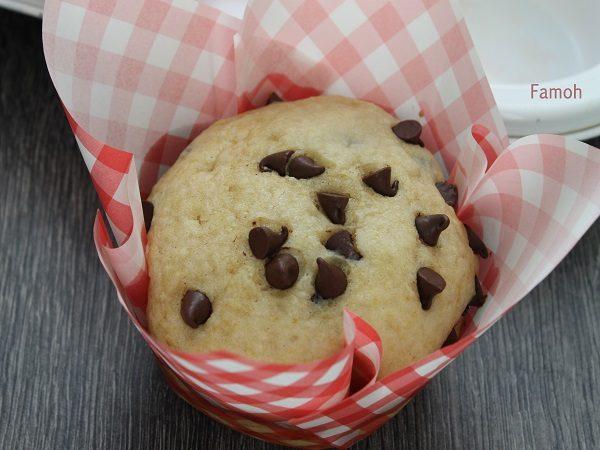 Muffin pépites de chocolat