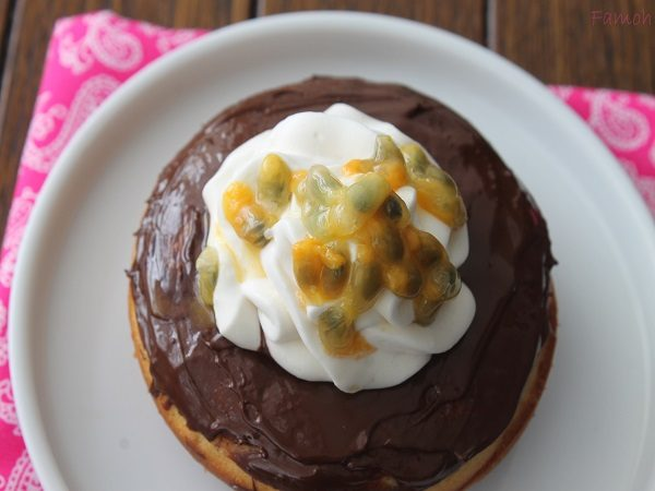 donuts chocolat et sa chantilly passion