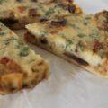 quiche aux champignons et persil sans pâte