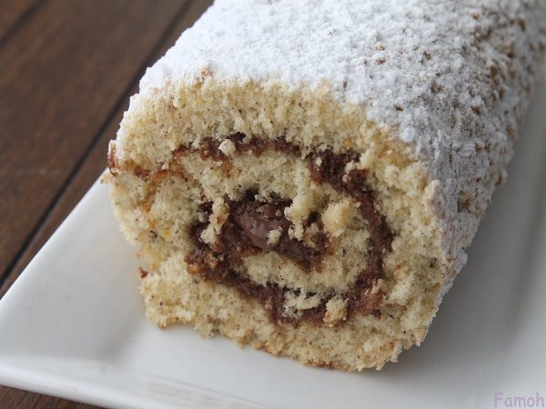 gâteau roulé choco praliné