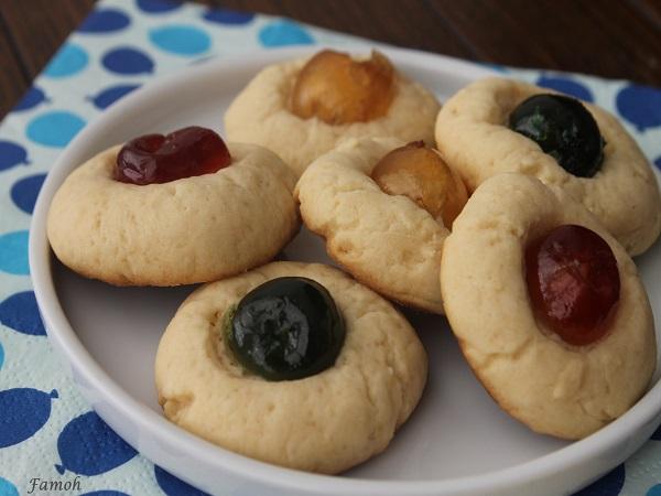 biscuits aux fruits confits