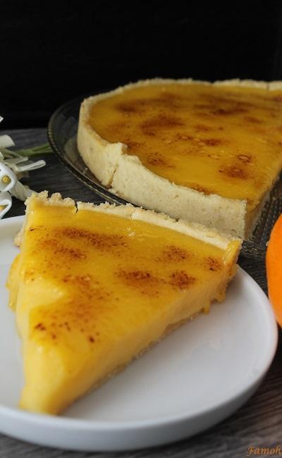tarte crème brûlée clémentines