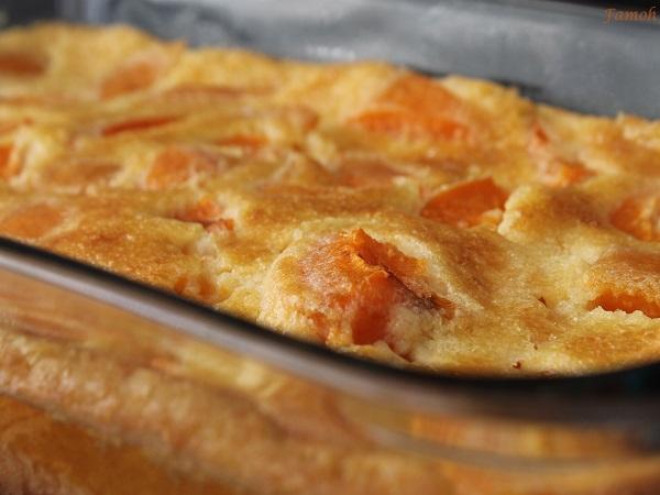 clafoutis aux abricots au sirop d'agave