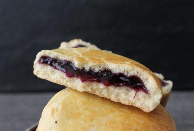 biscuits à la confiture de myrtilles