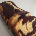 Recette de cake marbré au chocolat.