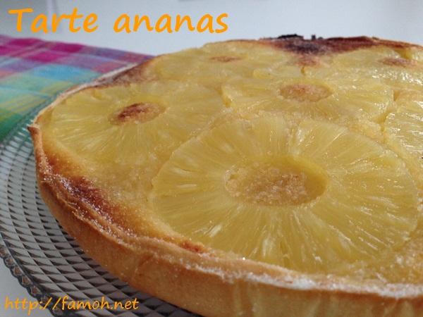 Tarte ananas.