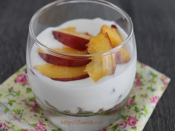 Trifle aux nectarines