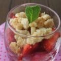 salade de fraises crumble